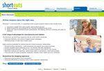 Screencap of Shortcuts Website