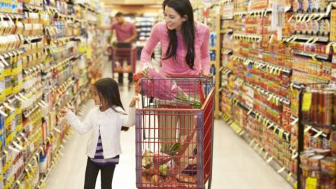 1-Mom Daughter Grocery Shopping