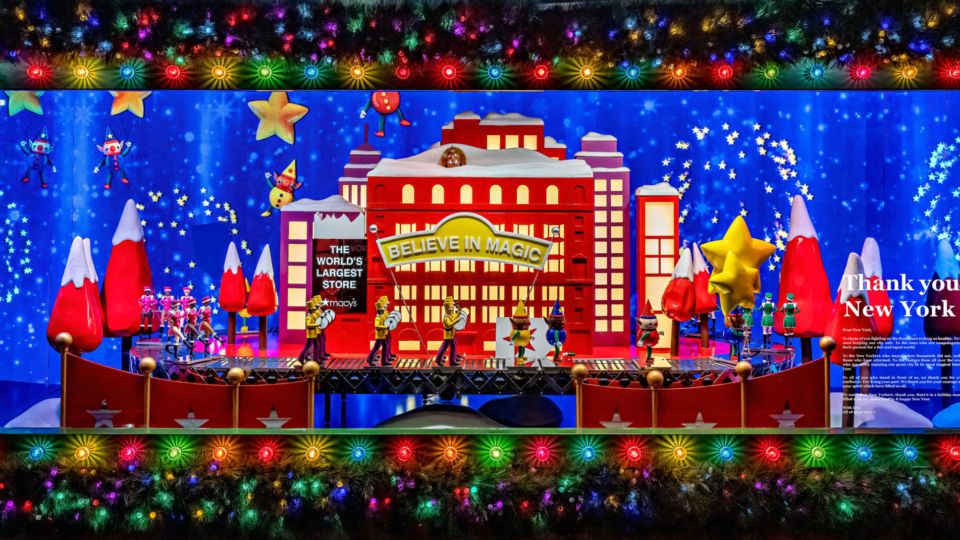 "The theme of Macy's windows this year centered on ""Give. Love. Believe."" Photo by Bill Waldorf."