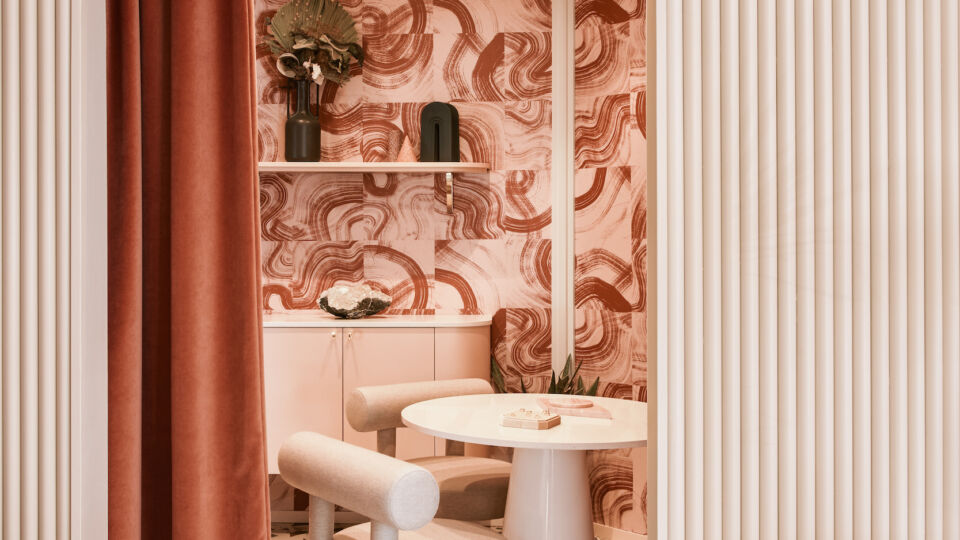 """A private room in the back, which designer Jillian Sassone calls the """"Babe Cave,"""" offers an intimate and inviting setting for personal consultations and meaningful conversation."""
