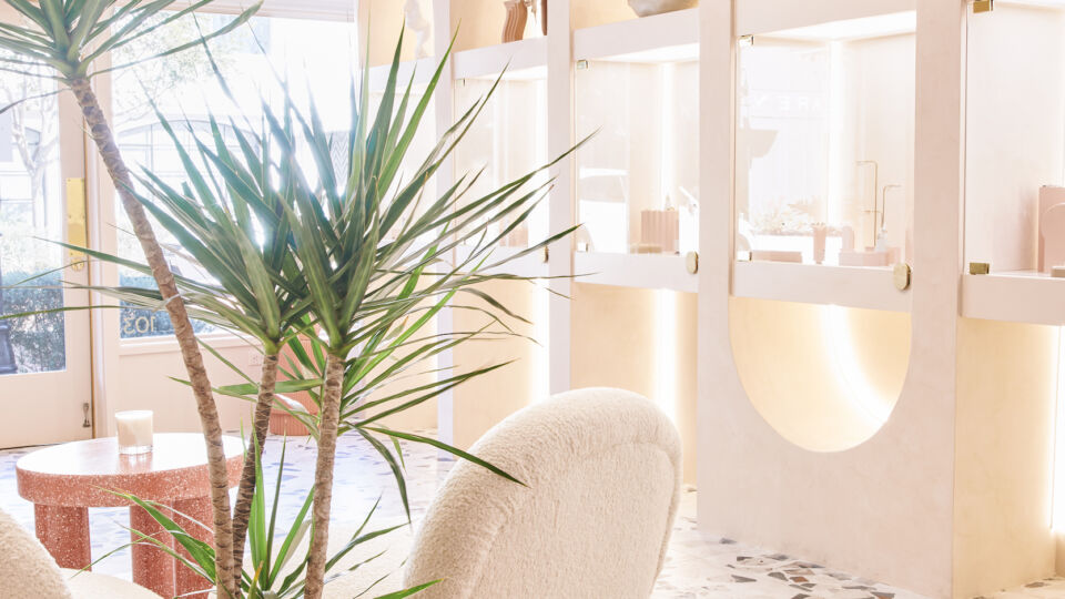 The flagship was designed to be inviting and not intimidating, taking cues from the hospitality industry for the interior design.