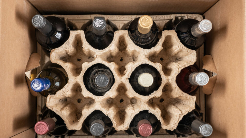 Wine in Shipping Box