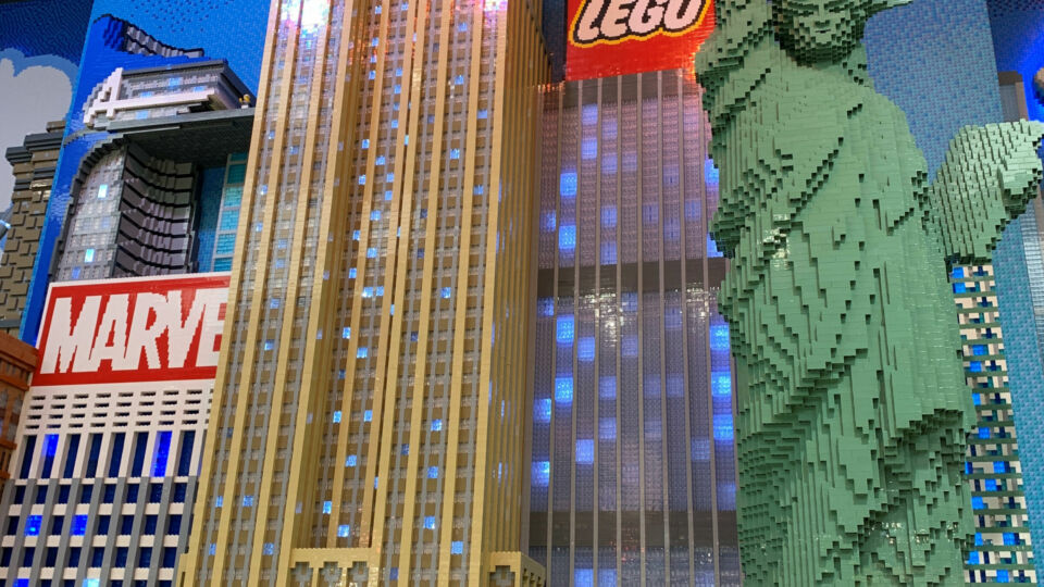 All of the Empire State's landmarks are duly represented in LEGO form.